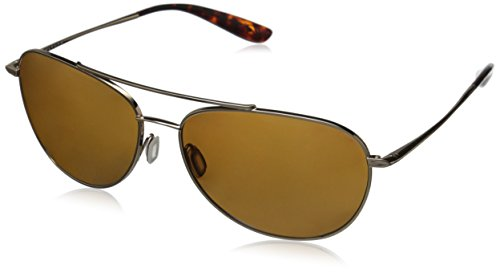 Kaenon Men's Driver Polarized Rimless Sunglasses, Gold B12, 60 mm