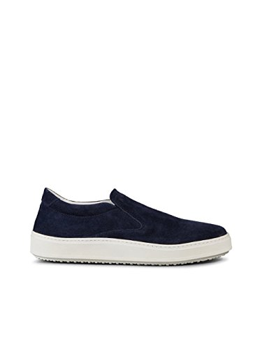 Hogan Slip On Sneakers Uomo HXM3020W541HG0U802 Camoscio Blu