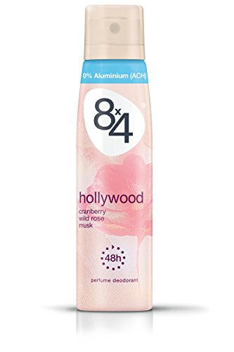 8x4 Deo Hollywood Spray, ohne Aluminium, 6er Pack (6 x 150 ml)