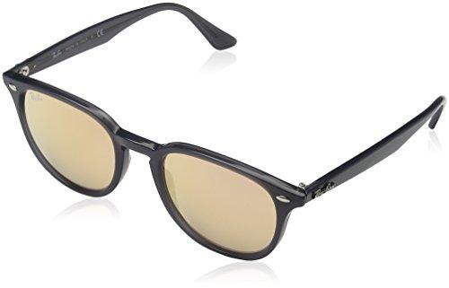 Ray-Ban Injected Unisex Non-Polarized Iridium Square Sunglasses, Shiny Opal Grey, 51 - Rb4259