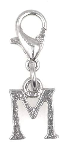 (It's All About You Jewelry Letter Clip on Charm Perfect for Necklaces and Bracelets Initial Letter M 94D)