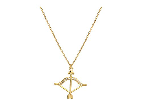 Charm Necklace Spade - Kate Spade New York Women's Celestial Charm Sagittarius Pendant Necklace Clear/Gold One Size
