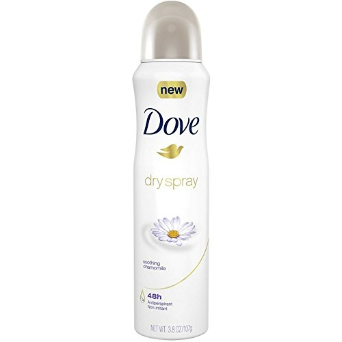 Dove Dry Spray Antiperspirant, Soothing Chamomile 3.8 oz Pack of 8