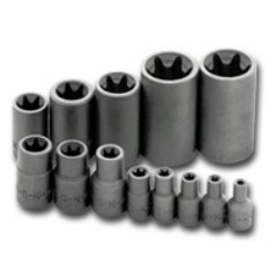 (S K Hand Tools SKT19761 .25in., .38in. and .50in. Drive Female Torx Socket Set - 13)
