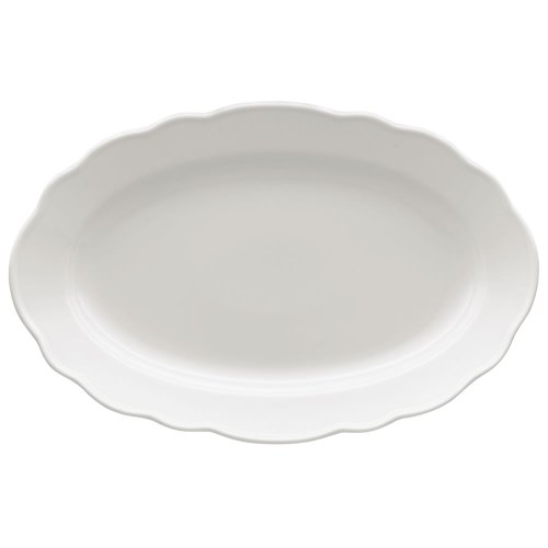 Hutschenreuther Maria Theresia Plate, Serving Plate, Oval, Porcelain, White, Dishwasher Safe, Länge: 38 cm, 12738