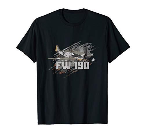 Focke Wulf FW 190 Warbird Tee Gift Fighter Aircraft Shirt