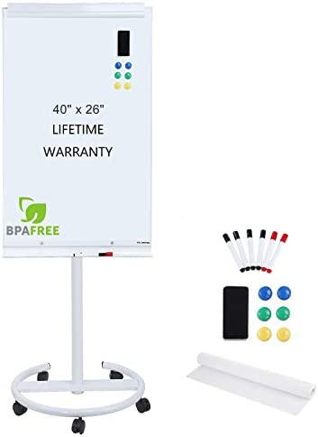 Magnetic Mobile Standing Whiteboard Adjustable product image