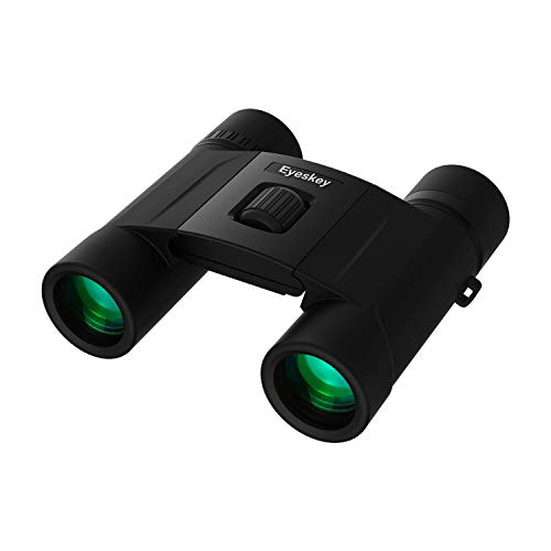 Eyeskey 8X25 Compact Binoculars for Professional Traveler Lightweight and Compact Folding Binocular with Fully Coated Lenses Clear BaK4 Prisms Waterproof