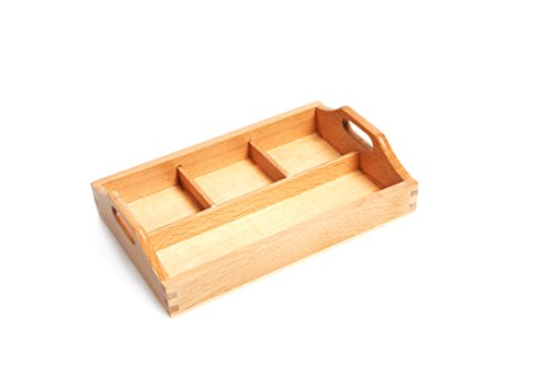 Amazing Child Montessori Attractive 3 Compartment Sorting Tray - SMALL tray with one long section 7 1/8