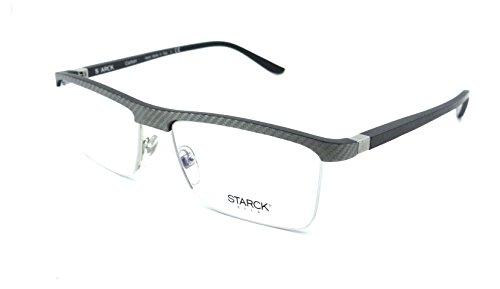3c0ef039f1 Starck Eyes Mikli Rx Eyeglasses Frames SH2014Y 0005 55-17-145 Grey Carbon  Fiber