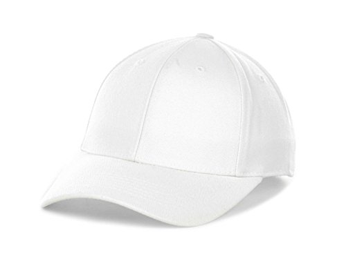 Top of the World by Lids Men's Closer Fitted Blank Baseball Hat Cap (7 1/2, White)
