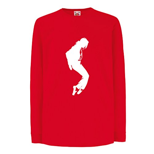 T-Shirt for Kids I Love MJ - Fan Club Clothes, Concert Clothing (7-8 Years Red White) ()