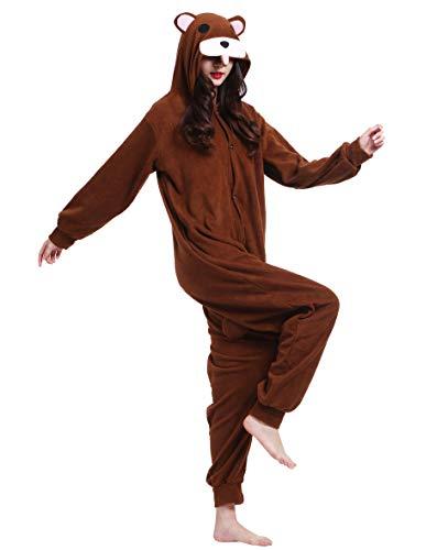 Animal Halloween Adulto Navidad Dormir Ropa Cosplay Kigurumi Carnaval Pijamas Brown Disfraz Invierno Pyjamas Oso Traje De Entero 5Hw0B