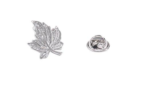 Epinki Mujer Plata Hoja del Arcoe Broche Pin Nupcial Broche para Boda Solapa Pin para Camisa