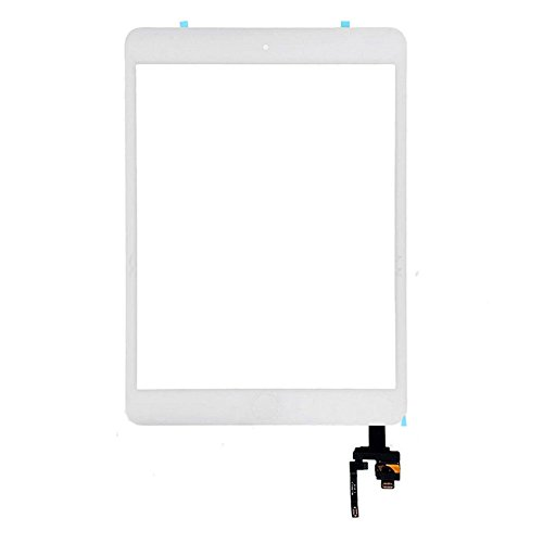 FeiyueTech iPad Mini 3 Touch Screen Replacement (Original White), Front Glass/Digitizer Touch Panel IC Chip Connector, Home Button,PreInstalled Adhesive Repair Tool Kit (White) by FeiyueTech (Image #1)
