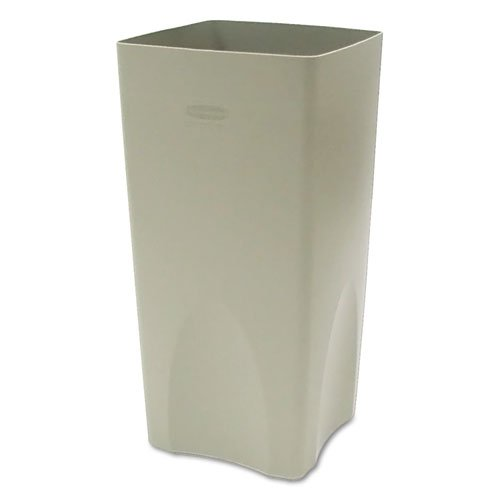Rubbermaid Commercial Plaza Waste Container Rigid Liner, Square, Plastic, 19 gal, Beige - one waste receptacle (Plaza Waste Receptacle)
