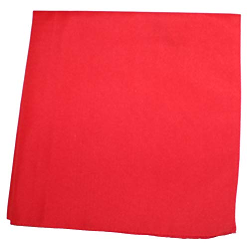 Solid 100% Cotton Unisex Bandana - 12 Pack Red 22 in