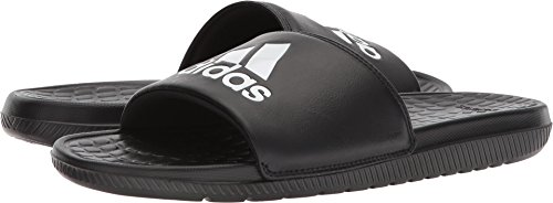 adidas Men's Voloomix Slide Sandal White/Black, 15 M US by adidas