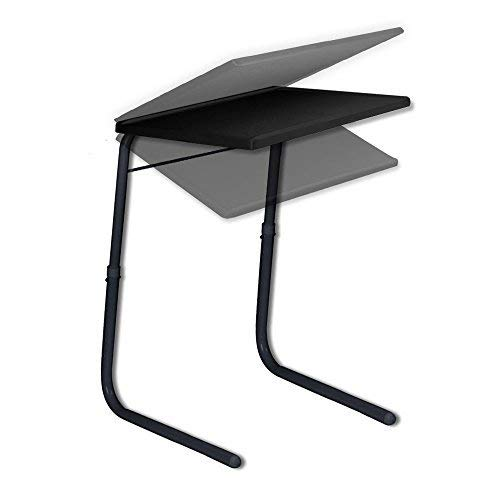 Cloudeal Table Black Strong and Sturdy for Studies, Laptop, Patient Dining, Foldable, Multi Purpose