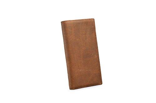 Vendimia Bolso De Capas En Dinero Scsy Monedero Hombres Brown Horse Clásico Cuero card Multi Crazy Mano La bags Los Largo 5SRRnOq