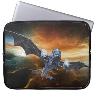 Steampunk Bat Airplane Laptop Sleeve Bag Notebook Computer PC Neoprene Protection Zipper Case Cover 17 Inch