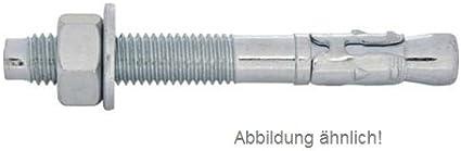 Bolzenanker M12 // 180 mm Schwerlastd/übel 10 St/ück ETA Zulassung Keilanker verzinkt