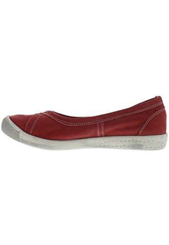Softinos P900179, Bailarinas Mujer Red