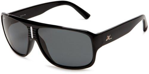 Hobie Brighton Polarized Sunglass,Shiny Black Frame/Grey Lens,one Size