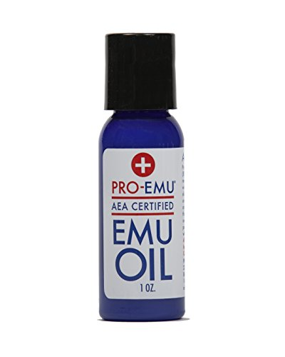 PRO EMU OIL (1 oz) All Natural Emu Oil - AEA Certified - Made In USA - Best All Natural Oil for Face, Skin, Hair and (Emu Oil)