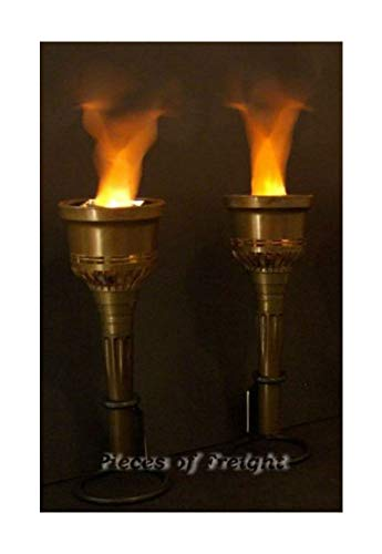 2 New Flaming Halloween Torches Prop Batteries Included by Tru Sales
