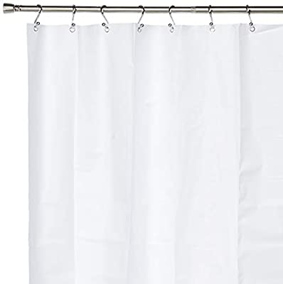 Clean Healthy Living 70 x 78 inches Extra Long PEVA Shower Curtain Liner with Suction Cups