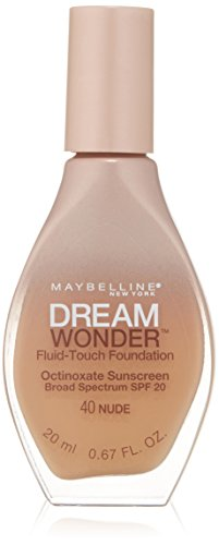 Maybelline New York Dream Wonder Fluid-Touch Foundation, Nude, 0.67 Fluid Ounce
