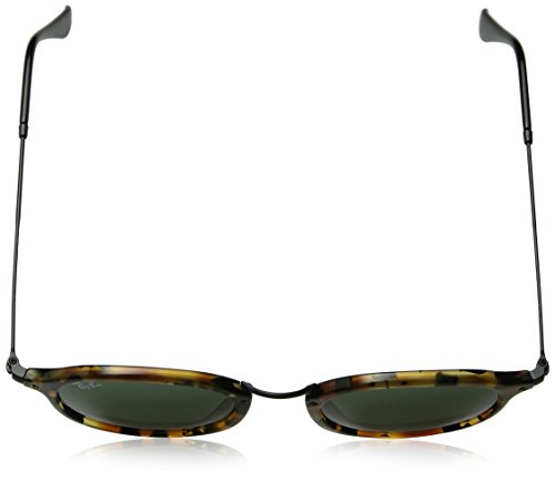 Ray-Ban Acetate Man Sunglasses - Spotted Black Havana Frame Green Lenses 49mm Non-Polarized