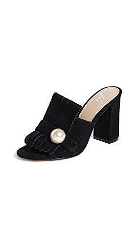 The Fix Women's Giuliana Block Heel Mule Black Suede