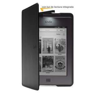 Funda de cuero con luz Amazon para Kindle Touch, color