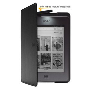 Funda de cuero con luz Amazon para Kindle Touch, color negro (sólo ...