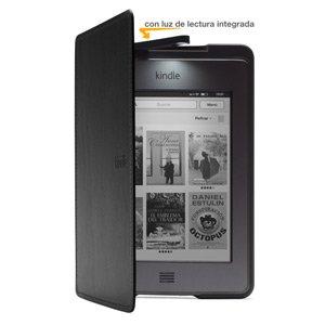 Funda de cuero con luz Amazon para Kindle Touch, color negro (sólo ...