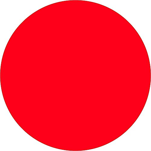 Tape Logic TLDL612G 1 1/2'' Inventory Circle Labels, Fluorescent Red, 1 Roll of 500 Labels by Tape Logic