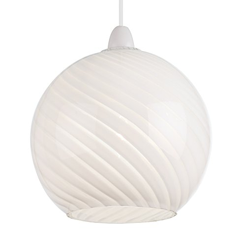 Endon Non-electric lamp shade in white glass (NE-Lowther-WH, shade only)
