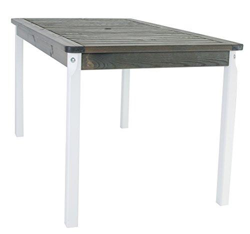 Amazon De Ambientehome Gartentisch Tisch Massivholz Esstisch Evje