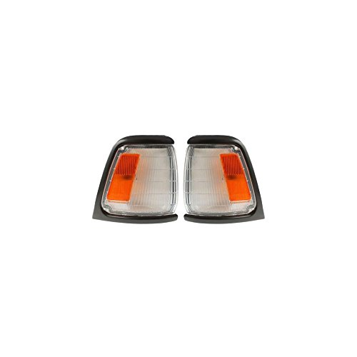 Corner Light Set of 2 Compatible with 89-91 Toyota Pickup Right and Left Side Assembly w/Gray Trim 2WD DLX/SR5 Models