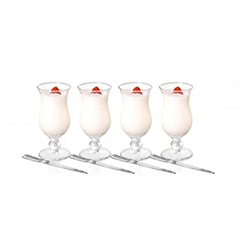 Brilliant - Appetizer Set, 4 Parfait Glasses & Spoons