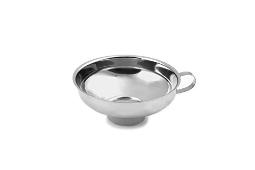 Farm to Table 5287 Wide Mouth Canning Funnel, Stainless Steel, 5.75-Inch