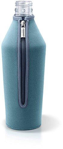 MySodapop BottleShirt Schutzhülle für Glaskaraffe Wassersprudler Zubehör, Glasflaschenschutz aus Neopren (Hellblau)