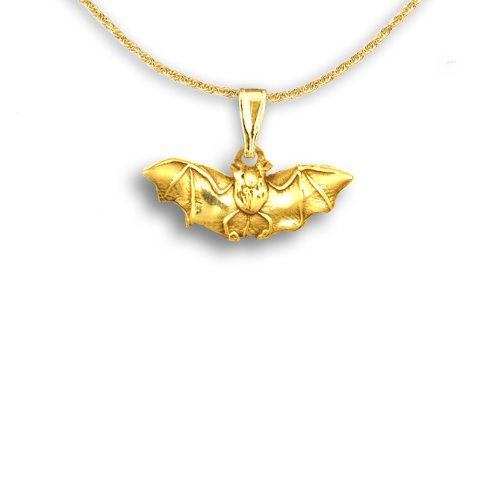 14k Gold Bat Pendant by The Magic Zoo - Outdoor Pend