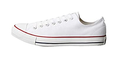 Converse Unisex Chuck Taylor All Star Ox Low Top Classic Optical White Sneakers - 9 Men 11 Women