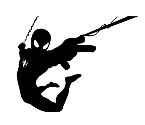 (Marvel Comics Spiderman Swinging Silhouette 5.5
