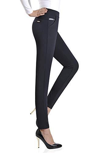 Donna Elastico di Lunghi Casual Pantaloni Vita Lavoro Pantaloni da Blu Ufficio in Quotidiano BOZEVON Wear Inverno Autunno Per IwAvtOqnn5