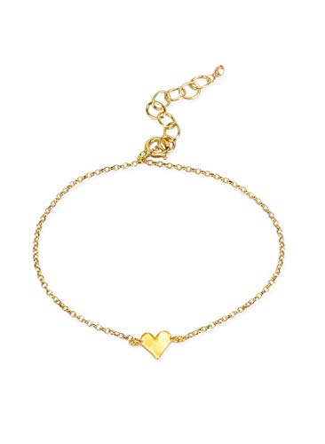 Dogeared Women's The Lucky Charm Bracelet, Heart Charm On Chain Gold One Size
