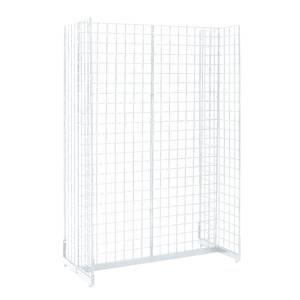 White Gondola Grid Display, 48 x 24 x 72 (W x D x H)
